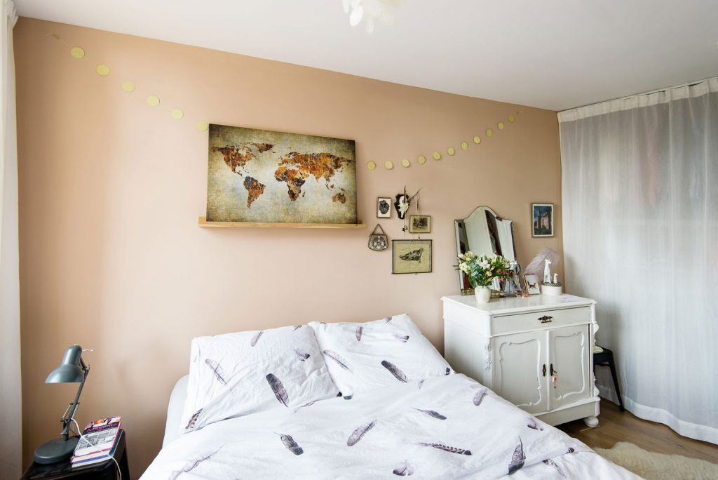 wereldkaart slaapkamer