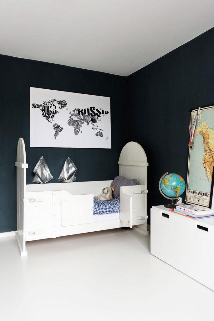 wereldkaart zwart-wit