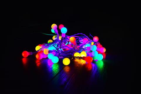 gekleurde lampen